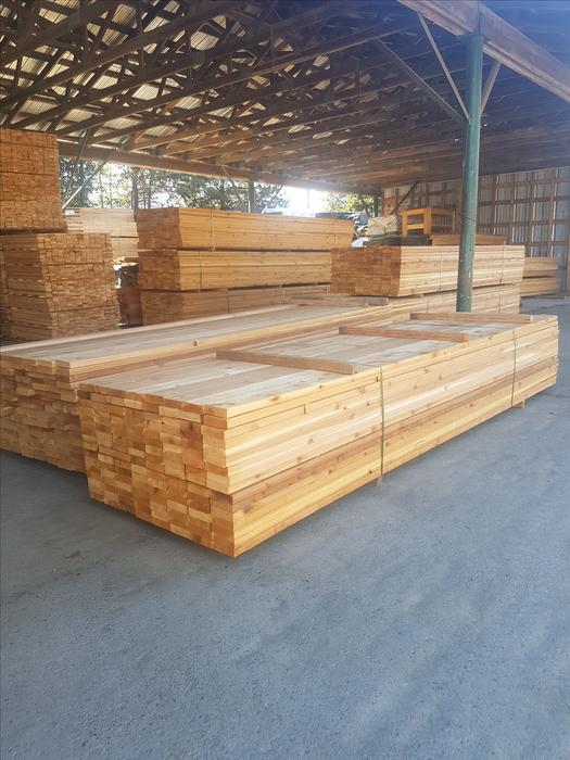 CEDAR 2x6 S4SEE DECKING TIGHT KNOT Outside Cowichan Valley