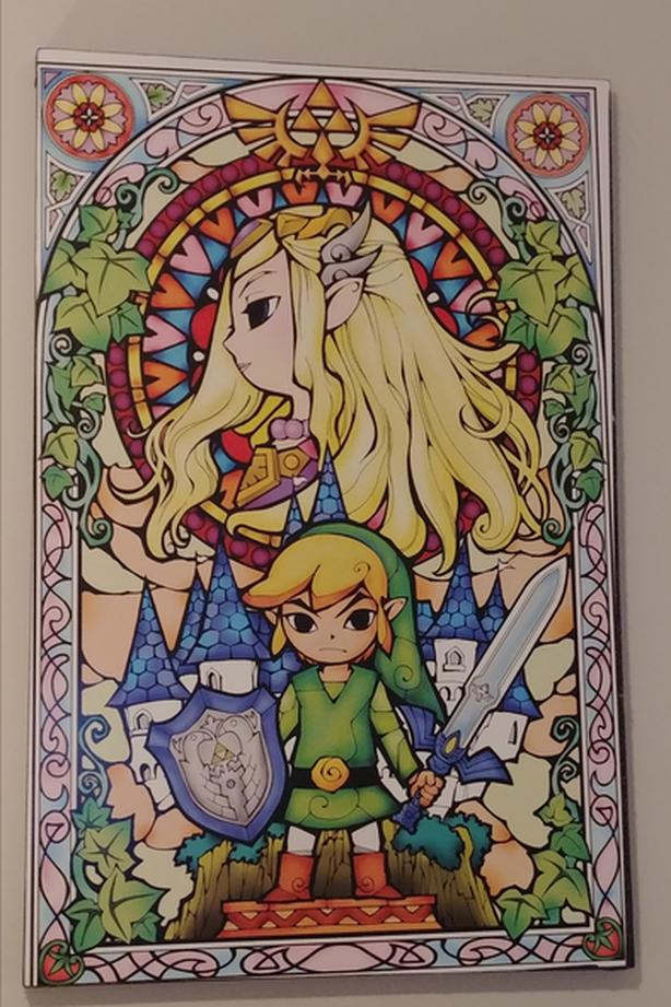 (New Pricing) Legend of Zelda Wind Waker Stained Glass – Art Print