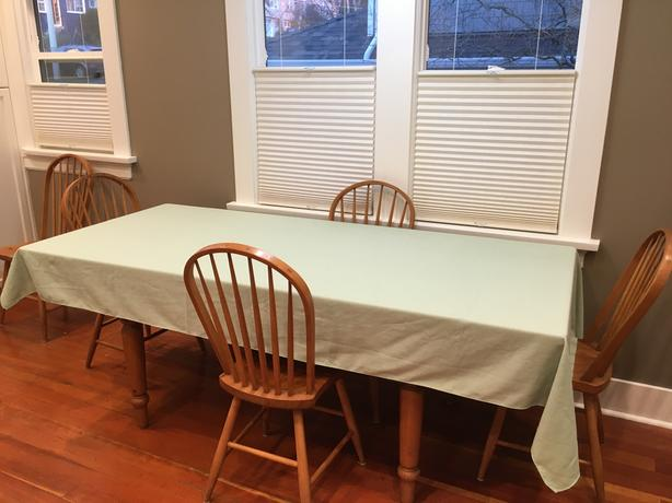 "Pale Green All Occasion Table Cloth 102"" X 56"""