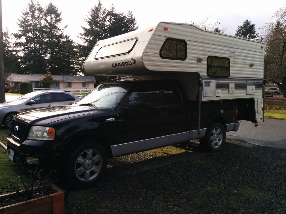 $8,500 · 2004 Ford F150 with 1992 Fleetwood Caribou camper