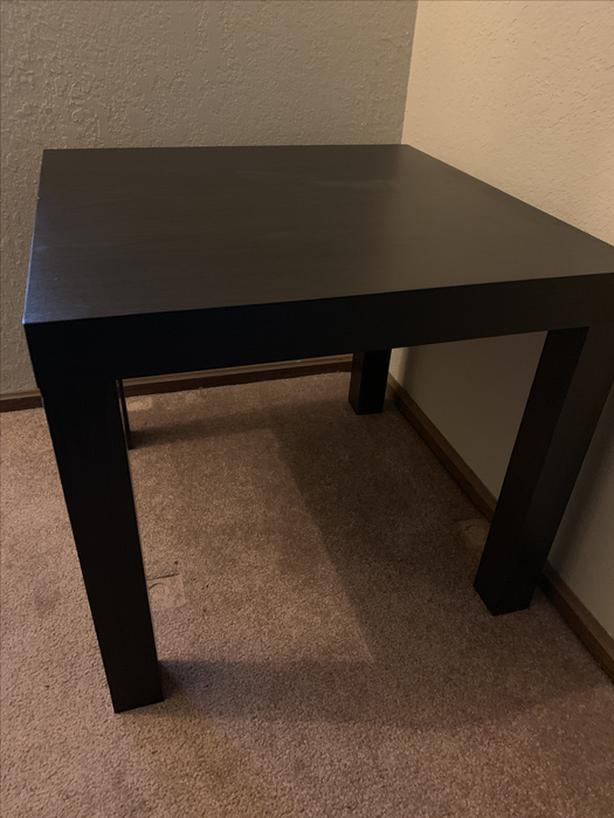 Mainstay Coffee Table.Black End Table Or Side Table Mainstay And Ikea Lack Saanich Victoria