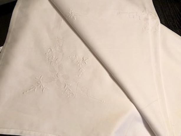 Beautiful, embroidered tablecloth