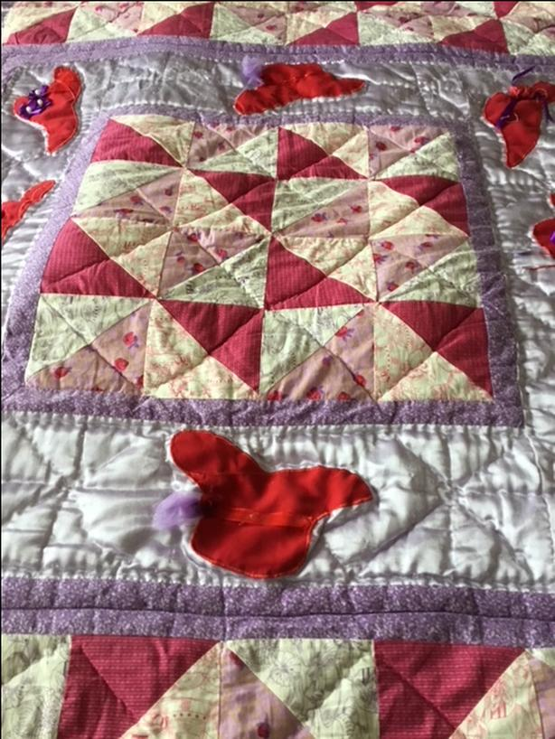 Red Hat handmade quilt