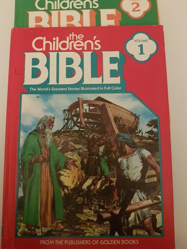 VINTAGE: THE CHILDREN'S BIBLE VOLUMES 1-6 GOLDEN FULL COLOR 1981