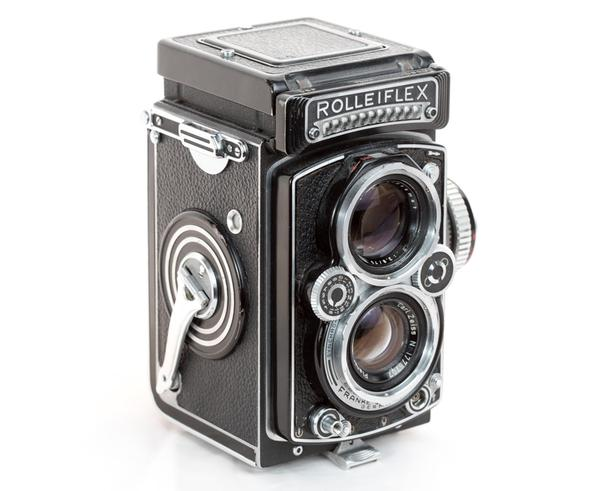 Rolleiflex Film Camera with 75mm  f3.5 Carl Zeiss Lens