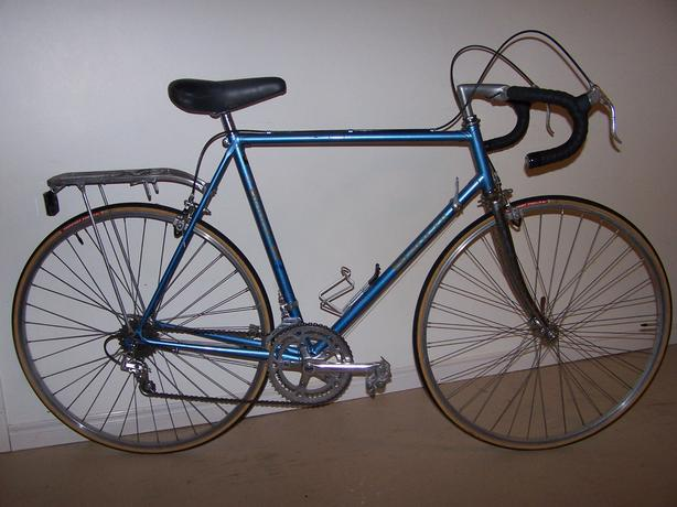Tall Blue Bianchi Bike