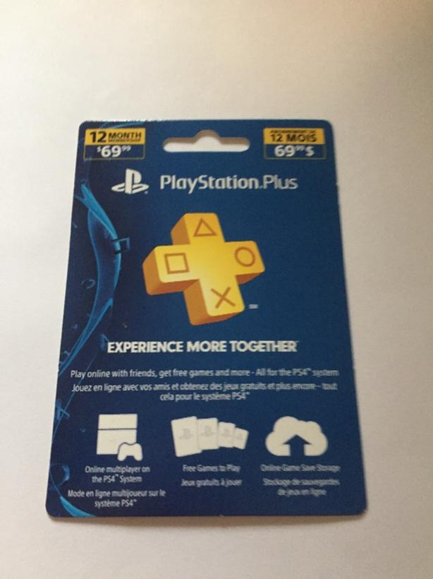 YEAR PS PLUS CARD