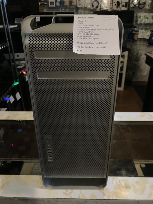 SALE! Mac Pro Tower Dual Quad 16GB RAM 240GB SSD + 1TB HD USB 3.0 w/ Warranty!