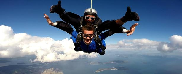 Skydive over Beautiful Vancouver Island