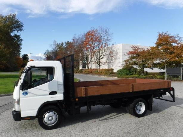 2012 Mitsubishi Fuso 3 Passenger FE180 14 Foot Flat Deck Dually Diesel