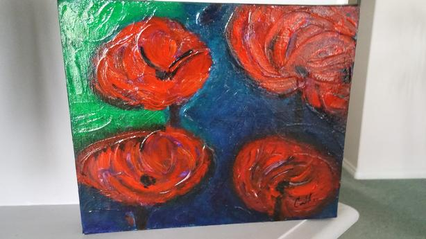 "Original Acrylic Painting on Canvas - 10"" x 12"""