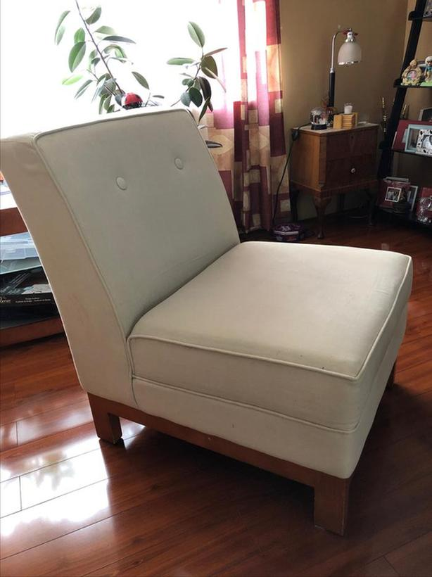Beige Slipper Chair -wrong city