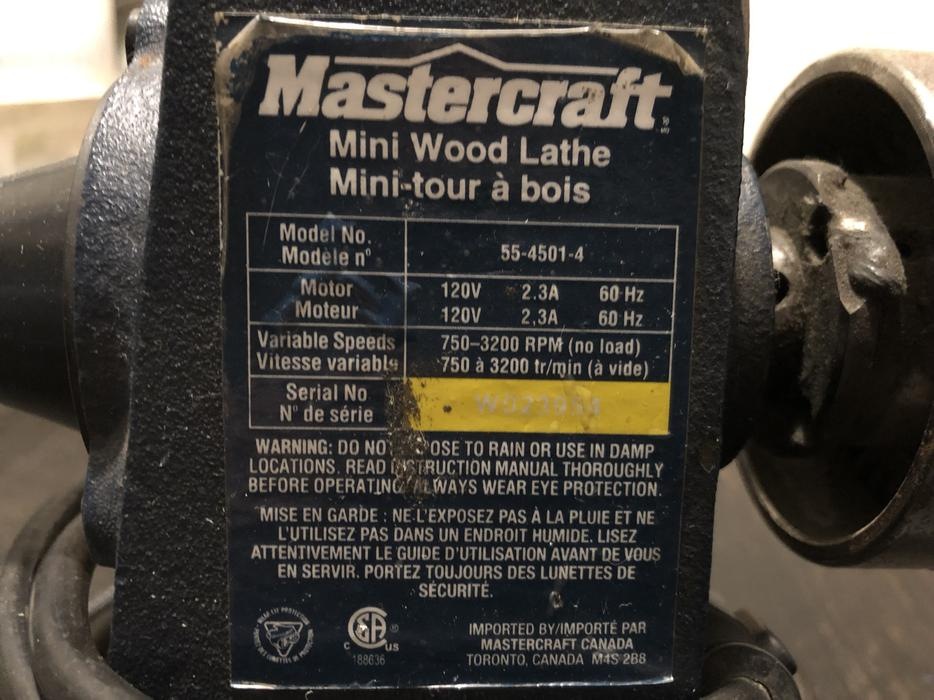 Mastercraft Mini Wood Lathe Victoria City Victoria