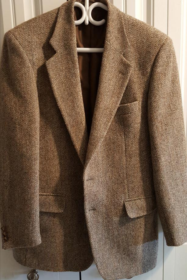 Brown Harris Tweed Sport Coat, 40 Regular