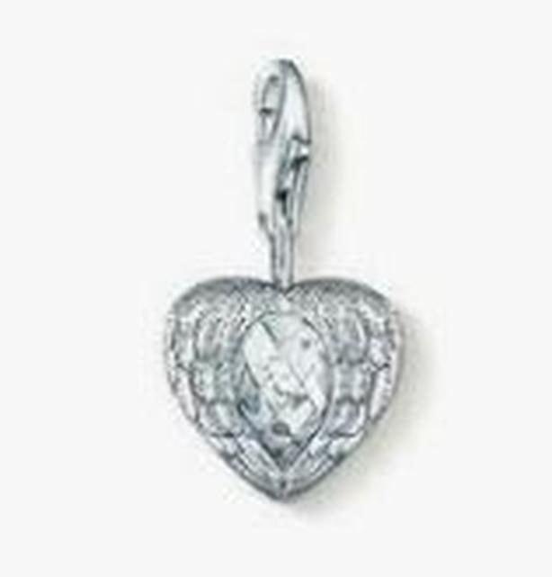 Reduced! Beautiful Retired Thomas Sabo 'Winged Heart' Charm