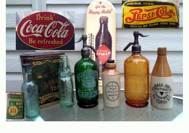 Early Advertising Vintage Signs, Tins, Beer Trays, Bottles, etc WANTED