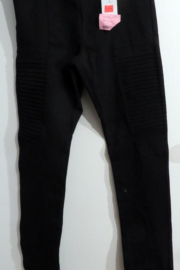 Leggings, Lycra/Spandex, Black, Size 5, Ribbed Areas on Front [Royal Oak]