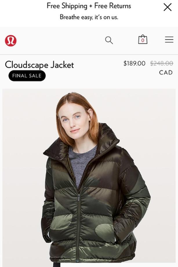 lululemon cloud jacket