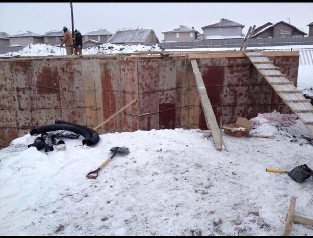 Concrete work: Foundations, footings, grade beams, flatwork, & basement bracing