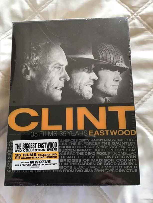 New Clint Eastwood (Never opened) boxed set 35 Films, 35 Years )