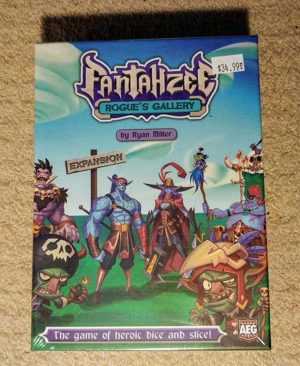 Fantahzee board game expansion: Rogue's Gallery