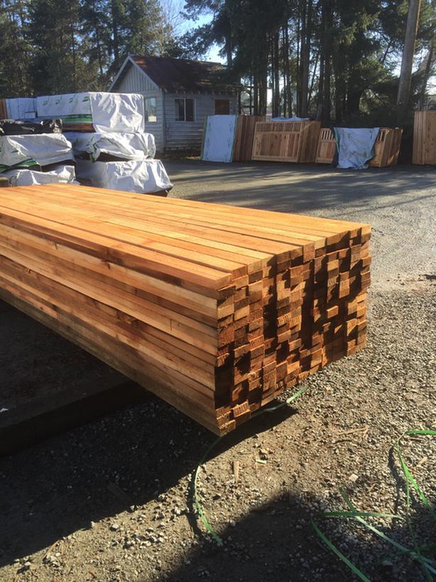 Cedar 2x4 Rough