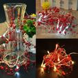3-FT 20 LED Entwined Beaded String Lights Turquoise Red 6 Lot Choice