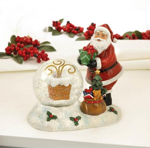 Classic Christmas Snowglobe Santa Snowman Nativity Cross Mixed Lot of 5