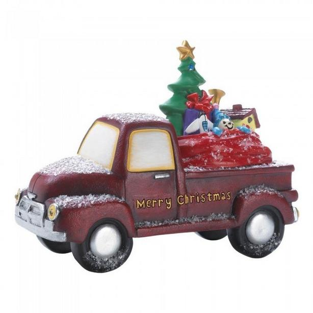 Light-up Vintage-Look Red Truck Christmas Ornament 3 Lot Gifts Resale