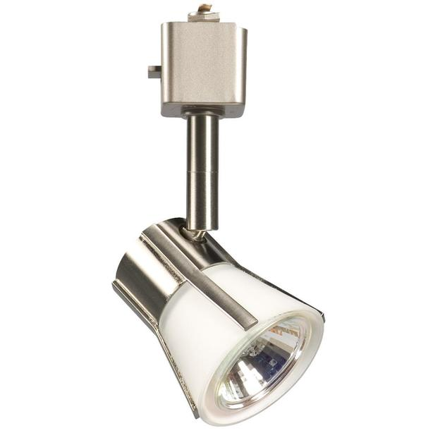NEW Ceiling Spot Light (brushed nickel with white glass)