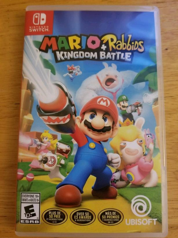 Used Nintendo switch game - Mario + Rabbids kingdom battle