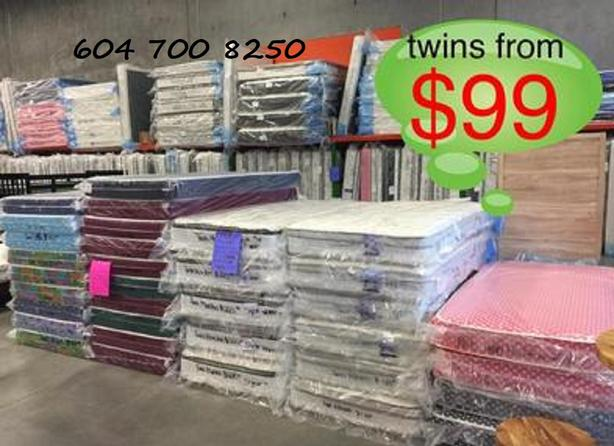 USED MATTRESSES THE BIG IN VANCOUVER AREA ALL SIZE AND BRAND NAME
