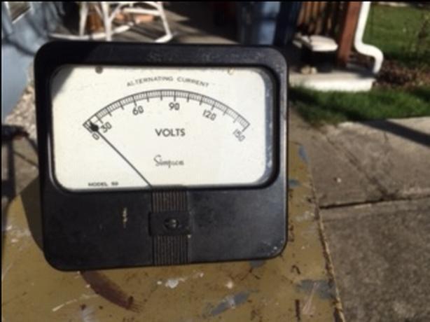 Antique electrical meter