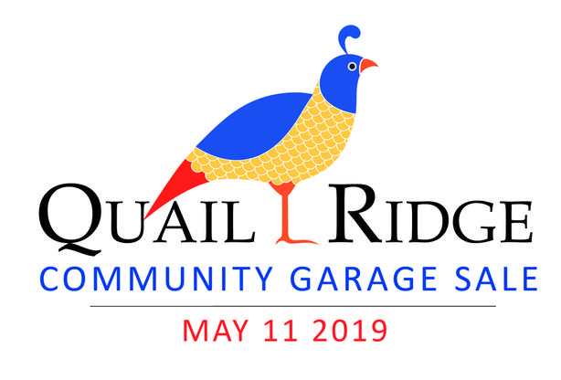 Quail Ridge Garage Sale - Saturday May 11