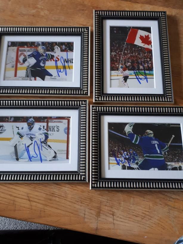 Roberto Luongo Autographed and Framed Hockey Photos