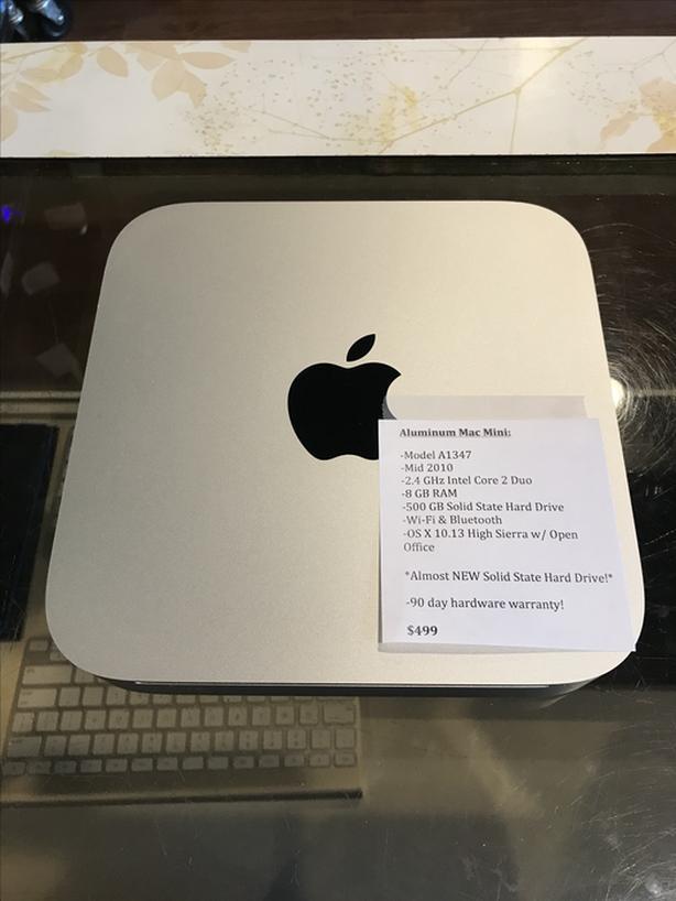 Aluminum Mac Mini 2 4GHz Core 2 Duo 8GB RAM 500GB SSD w
