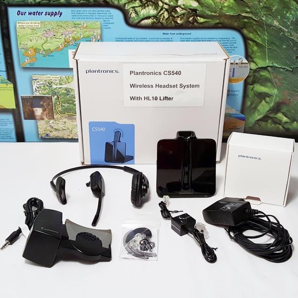 Plantronics CS540 Wireless Headset System + HL10 Lifter ~ 100% WORKING