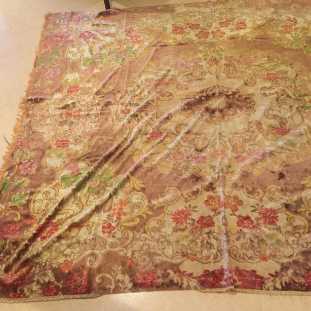 Antique Italian Wedding Night Bed Cover