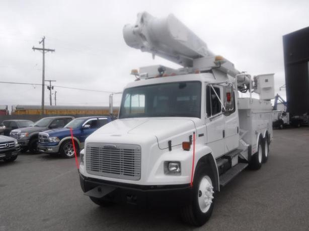 2002 Freightliner FL80 Diesel Crew Cab Bucket Truck Air Brakes