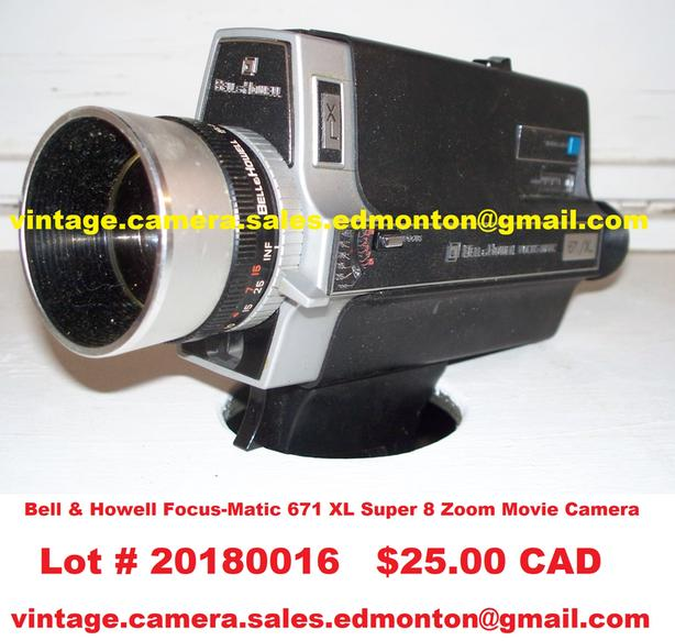 Bell & Howell Focus-Matic 671 XL Super 8 Zoom Movie Camera