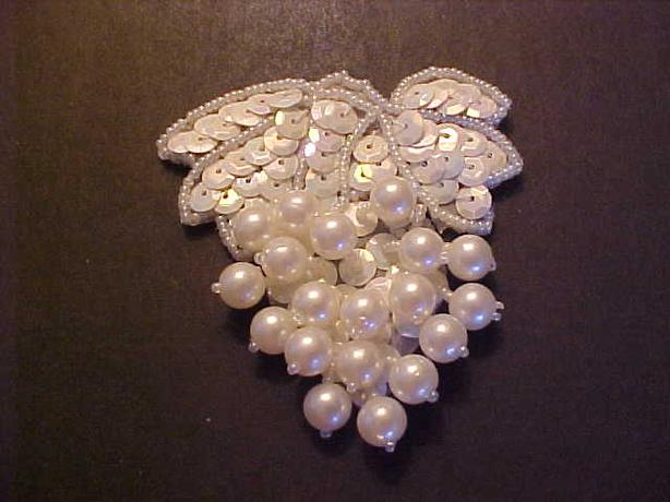 SEQUIN AND PEARL APPLIQUE