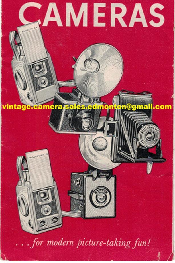 Ansco Cameras Sales Brochure 1966