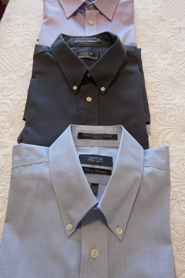Men's Dress Shirts, size 17 1/2 ~ $10 each