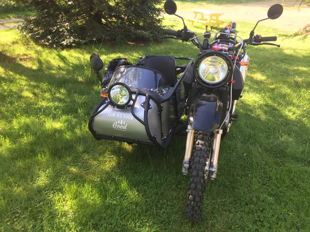 Custom built Suzuki DR650SE with sidecar, very unique, dirt or road