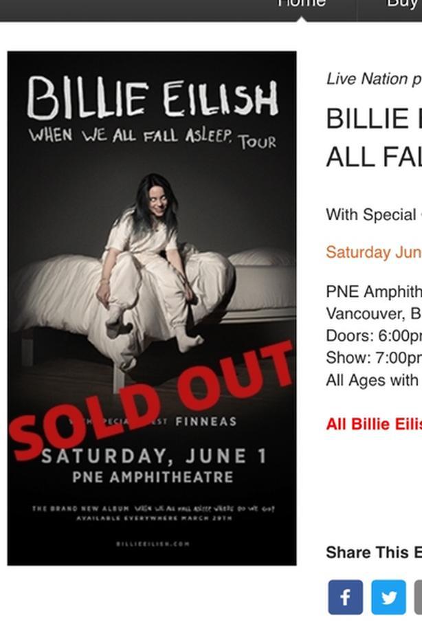 WANTED: ISO Billie Eilish Concert Ticket