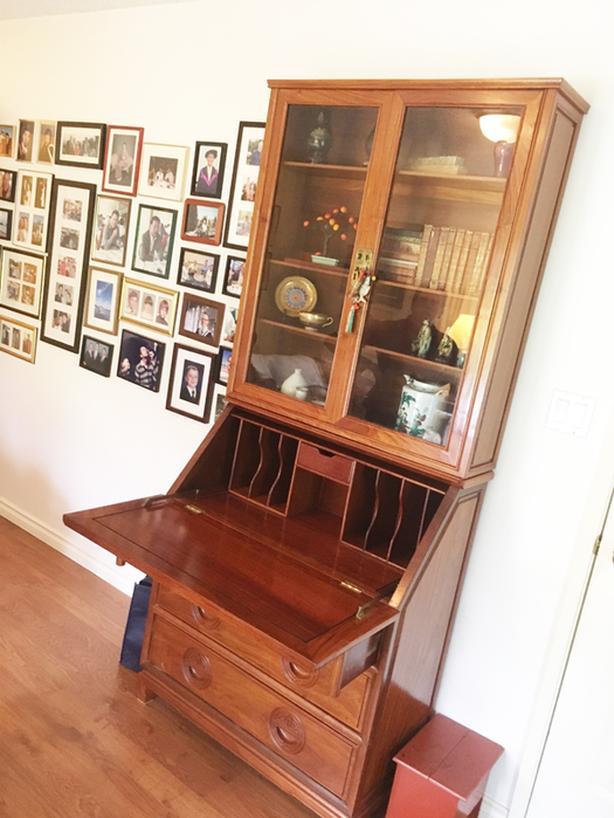 Oriental Rosewood, Teak, Pine, Leather, Stair Lift