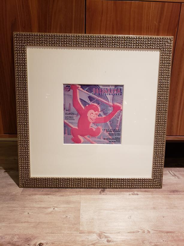 "MINTY FRESH!  FRAMED Andy Warhol print from rare ""Children's Show"", Zurich 1983!"