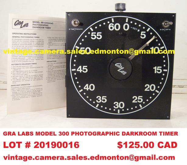 GRA LAB Model 300 Photographic Darkroom Timer