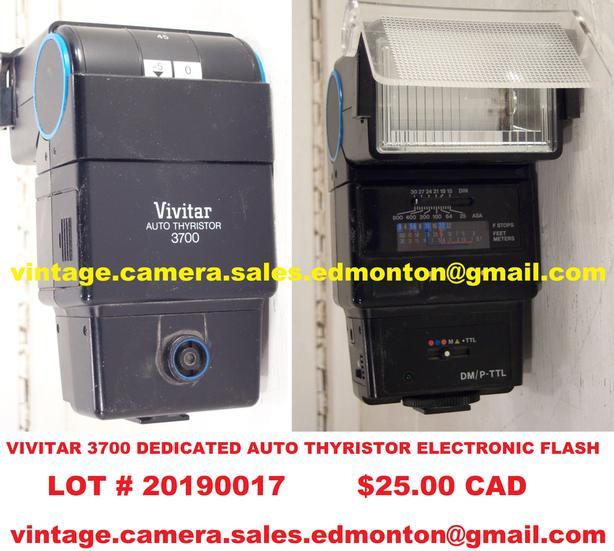 Vivitar 3700 Dedicated Auto Thyristor Electronic Flash