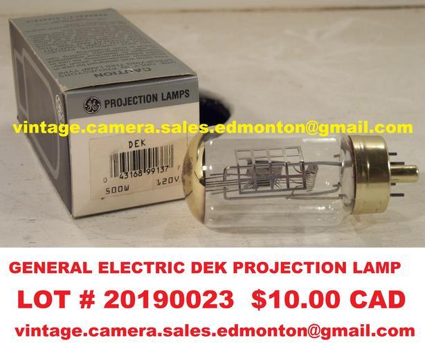 General Electric DEK Projection Lamp